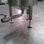 mixer for food products in stainless steel