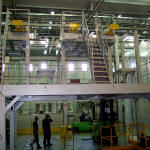 Mounting of a support structure for scales and weighing equipment